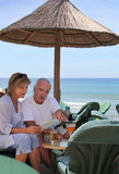 Couple on tropical holiday Stock Photography