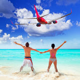 Couple on tropical holidays Royalty Free Stock Image