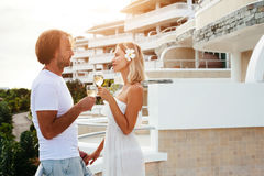 Couple in tropical hotel Royalty Free Stock Images