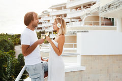 Couple in tropical hotel Royalty Free Stock Photos
