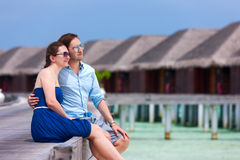 Couple on tropical luxury vacation Royalty Free Stock Photos