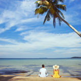 Couple in tropics Stock Image