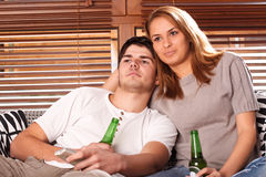 couple tv watching young Στοκ εικόνες με δικαίωμα ελεύθερης χρήσης