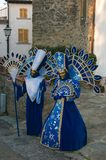 Couple of two person with carnival costume. Italy, Europe Stock Photo