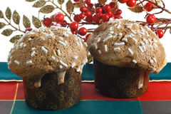 Couple typical Christmas cake from Milan (Italy) Royalty Free Stock Images