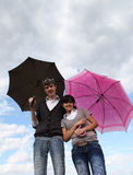 Couple Umbrella Stock Photography