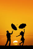 Couple with umbrella Royalty Free Stock Image