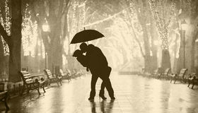Couple with umbrella Royalty Free Stock Photography