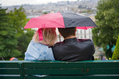 Couple with umbrella Royalty Free Stock Photo