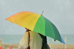 Couple under the rain Royalty Free Stock Photo