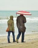 Couple under the rain Royalty Free Stock Image