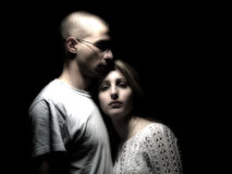 Couple under the star light.  Royalty Free Stock Photo