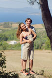 Couple under Tree Stock Photos