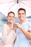 Couple under umbrella Royalty Free Stock Photo