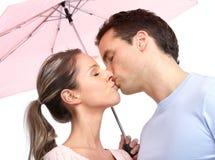 Couple under umbrella Royalty Free Stock Photo