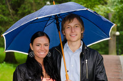 Couple under umbrella Royalty Free Stock Photos