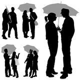 Couple under an umbrella Stock Photography