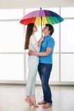 Couple under a umbrella Royalty Free Stock Photography