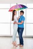 Couple under a umbrella Royalty Free Stock Photo