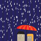 Couple under an umbrella Stock Photo