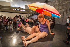 Couple Under An Umbrella, 2013 - Ron Mueck Stock Image