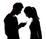 Free Couple Using Cellphone Stock Photos - 43709803