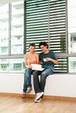 Couple Using Laptop Royalty Free Stock Image