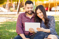Couple using a tablet computer Stock Photo
