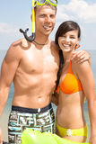 Couple on vacation Stock Images