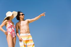 Couple on vacation Stock Image