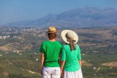 Couple in vacation on Greece Stock Photo