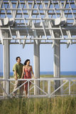 Couple on Vacation Smiling royalty free stock photo