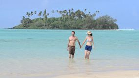 Couple on vacation in tropical Island stock video