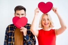 Couple on valentine day stock photos