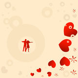 Couple, valentine design Royalty Free Stock Images