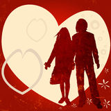 Couple, valentine design Royalty Free Stock Photo