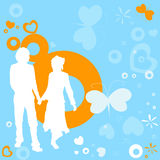 Couple, valentine design Royalty Free Stock Photos