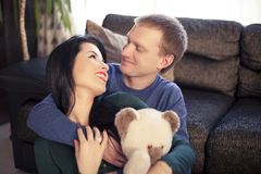 Couple on valentine's day Stock Images