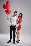 Couple in Valentine`s day Stock Images