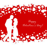 Couple on Valentines background Royalty Free Stock Image