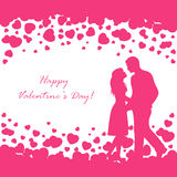Couple and Valentines hearts Stock Images