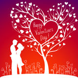 Couple With Valentines Tree Stock Images