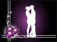 Couple- vector Royalty Free Stock Photo