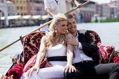 Couple in Venice, Italy Royalty Free Stock Photos