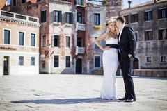 Couple in Venice, Italy Stock Image