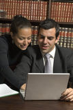 Couple View Laptop - Vertical Royalty Free Stock Photo