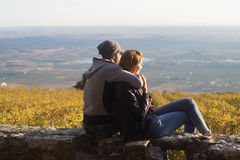 Couple viewing landscape Royalty Free Stock Photo