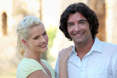 Couple in a village Royalty Free Stock Photography
