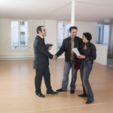 Couple visiting apartment Royalty Free Stock Image