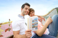 Couple visiting Barcelona Royalty Free Stock Photo
